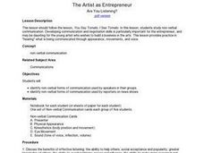 The Artist as Entrepreneur: Are You Listening? Lesson Plan