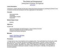 The Artist As Entrepreneur: Getting Down To Business: Get Organized Lesson Plan