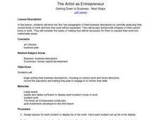 The Artist As Entrepreneur: Getting Down To Business - Next Steps Lesson Plan