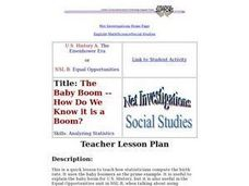 The Baby Boom -- How Do We Know it is a Boom? Lesson Plan