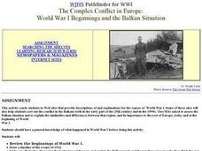 The Balkans and World War I Lesson Plan