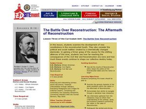 The Battle Over Reconstruction: The Aftermath of Reconstruction Lesson Plan
