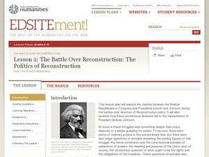 The Battle Over Reconstruction: The Politics of Reconstruction Lesson Plan