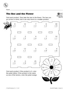 The Bee and the Flower Worksheet