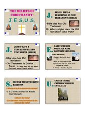 THE BELIEFS OF CHRISTIANITY:  J.E.S.U.S. Lesson Plan