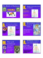 The Beliefs of Hinduism:  K.A.R.M.A. Lesson Plan