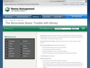 The Berenstain Bears Trouble with Money Lesson Plan