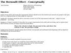 The Bernoulli Effect - Conceptually Lesson Plan