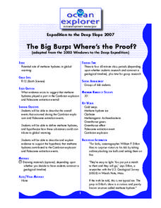 The Big Burp: Where's the Proof? Lesson Plan