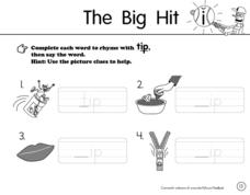 The Big Hit Worksheet