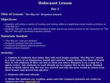 """The Big Lie"" Response Journal Lesson Plan"