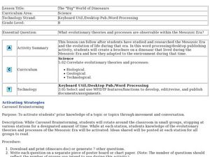 The Big World of Dinosaurs Lesson Plan