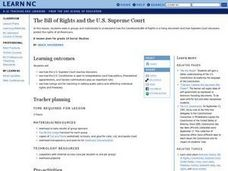 The Bill of Rights And The U.S. Supreme Court Lesson Plan
