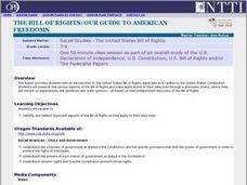 The Bill Of Rights: Our Guide To American Freedoms Lesson Plan