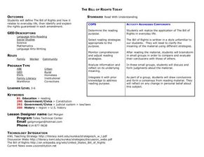 The Bill of Rights Today Lesson Plan