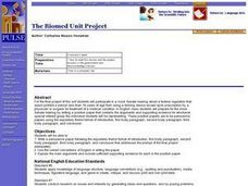The Biomed Unit Project Lesson Plan