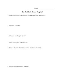 The Birchbark House: Chapter 4 Worksheet
