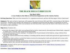 The Black Hills: A Case Study in the Effects of Western Expansion on the Lakota Nation Lesson Plan
