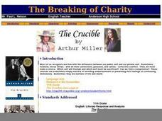 breaking charity crucible essay The crucible study guide contains a biography  and has heard of her great charity  essays for the crucible the crucible essays are academic essays.
