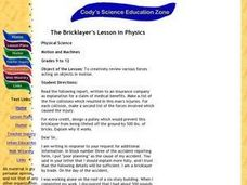 The Bricklayer's Lesson in Physics Lesson Plan