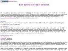 The Brine Shrimp Project Lesson Plan