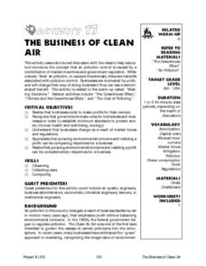 THE BUSINESS OF CLEAN AIR Lesson Plan