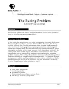 The Busing Problem Lesson Plan