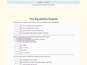 the byzantine empire 9th 12th grade worksheet lesson planet. Black Bedroom Furniture Sets. Home Design Ideas