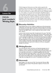 jack london style of writing In the following essay i am going to compare jack london's writing style to ga henty's writing style they both have very different writing styles.