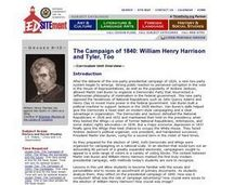 The Campaign of 1840: William Henry Harrison and Tyler, Too Lesson Plan