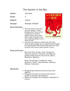 The Catcher in the Rye Lesson Plan