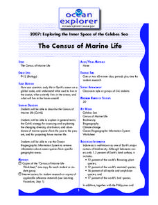 The Census of Marine Life Lesson Plan