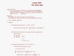 The Chain Rule Lesson Plan