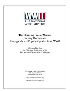 The Changing Face of Women:  Propaganda and Popular Opinion from WWII Lesson Plan