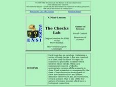 The Checks Lab Lesson Plan