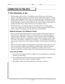 The Chemistry of Art Worksheet