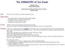 The Chemistry of Ice Cream Lesson Plan