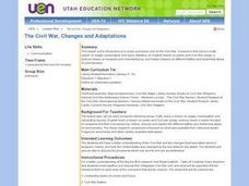 The Civil War, Changes and Adaptations Lesson Plan