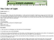 The Color of Light Lesson Plan