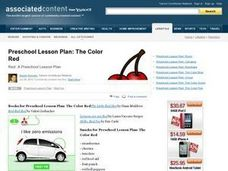 The Color Red Lesson Plan