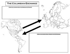 The Columbian Exchange 9th   12th Grade Worksheet   Lesson ...