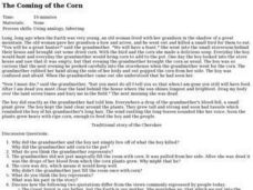 The Coming of the Corn Lesson Plan