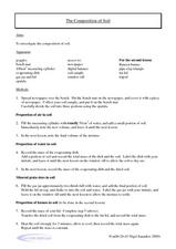 The Composition of Soil Worksheet