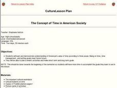 The Concept of Time in American Society Lesson Plan