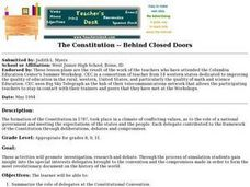 The Constitution -- Behind Closed Doors Lesson Plan