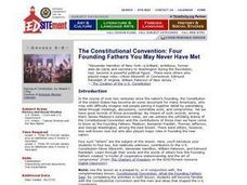 The Constitutional Convention: Four Founding Fathers You May Never Have Met Lesson Plan
