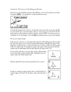 The Converse of the Pythagorean Theorem Lesson Plan
