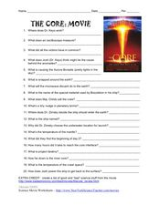 The Core: Movie 3rd - 4th Grade Worksheet   Lesson Planet