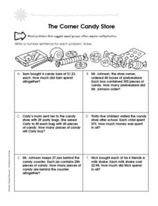 The Corner Candy Store Worksheet