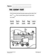 The Corny Fort Worksheet